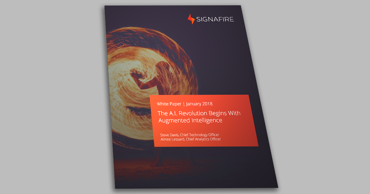 Signafire's Latest White Paper Explores Augmented Versus Artificial Intelligence